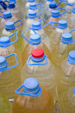 Bottles. A lot of plastic bottles of water Royalty Free Stock Photos