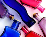 Bottles. Pattern of colorful bottles royalty free stock image