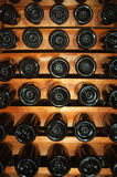 BOTTLES. Vine bottles in the geometrical order Stock Image