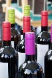 Bottles. Of Spanish red wine royalty free stock photo