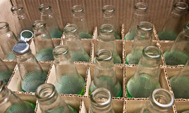 Bottles. Empty bottles prepare for recycle Royalty Free Stock Images