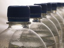 Bottles. With a drinking water Stock Photo