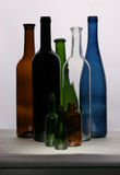 Bottles. The eight different wine bottles Royalty Free Stock Photos