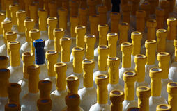 Bottles. A sun light flew the bottles Royalty Free Stock Images