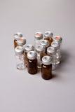 Bottles. Sterile Medicine Bottles for injectable royalty free stock image