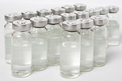 Bottles. With a medical product, a transparent liquid Stock Image