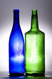 Bottles. Background with creative bottles.GLASS Stock Image