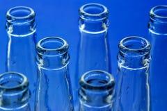 Bottles. On blue background Stock Photography