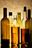 Bottles of alcohol Royalty Free Stock Photography
