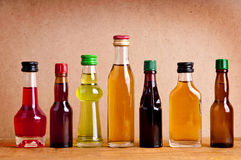 Bottles of alcohol royalty free stock photos