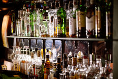 Bottles of alcohol Stock Photography