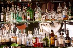 Bottles of alcohol Stock Photos
