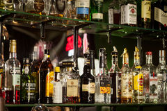 Bottles of alcohol Royalty Free Stock Photo