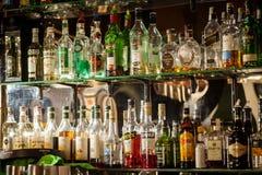 Bottles of alcohol Stock Photo