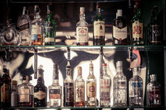 Bottles of alcohol Stock Images