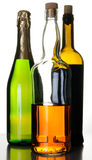 Bottles of alcohol drinks Stock Image