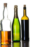 Bottles of alcohol drinks Stock Photography