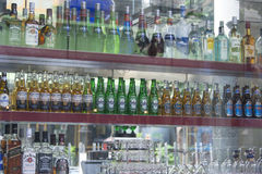 Bottles of Alcoholic Drink Royalty Free Stock Photography