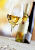 Bottles And Glass Of White Wine Stock Image