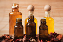 Bottles of Aromatic Oil Stock Photography