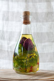 Bottles of aromatic olive oil Royalty Free Stock Image