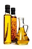 Bottles of aromatic olive oil. Royalty Free Stock Photos