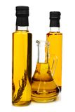 Bottles of aromatic olive oil. Royalty Free Stock Images
