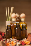 Bottles of Aromatic SPA Oil Royalty Free Stock Image