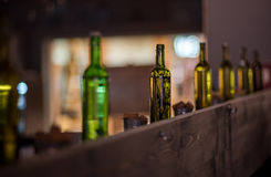 Bottles as decor. Often are used to make interior better stock image