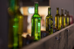 Bottles as decor. Often are used to make interior better stock photography