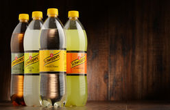 Bottles of assorted Schweppes drinks Stock Image