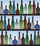 Bottles in bar Stock Photo