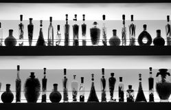 Bottles bar BN Royalty Free Stock Images
