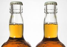 Bottles of beer stock image