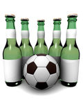 Bottles of beer and ball Royalty Free Stock Image