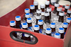 Bottles of beer at the ballpark Stock Photo