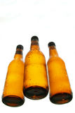 Bottles of beer different view. Bottles of beer isolated on white Stock Photos