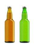 Bottles of beer isolated Stock Image