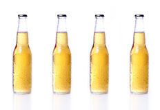 Bottles of beer isolated on white Royalty Free Stock Photo