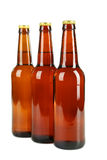 Bottles of beer isolated on white. Royalty Free Stock Images