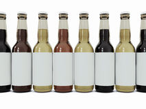 Bottles of beer in a number Royalty Free Stock Image