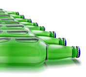 Bottles of beer. On a white background Royalty Free Stock Image