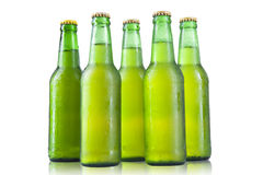 Bottles of beer on a white background Royalty Free Stock Image