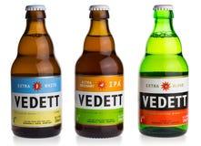 Bottles of Belgian Vedett beer Stock Image