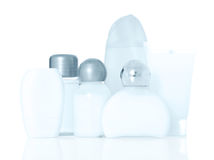 Bottles of body care products Stock Photo