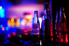 Bottles with bokeh background Stock Photo