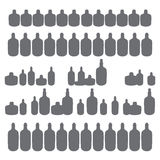 Bottles of booze simple form. Concept of entertainment and recreation. illustration. use a smart phone, website, printing, decorating etc Stock Images