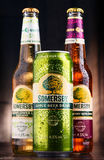 Bottles and can of Somersby cider drink Stock Images
