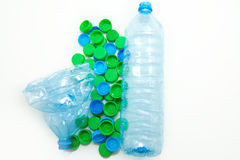 Bottles with caps Stock Images