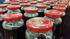 Bottles of juice Stock Photography
